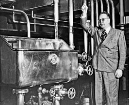 The Brewmaster at the Lauter Tub Bavarian Brewing Co., Covington, KY