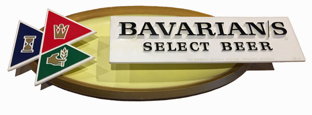 Bavarian/s Select Beer 3-Flag Oval Sign by IBI, Covington, KY