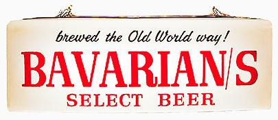 """Bavarian Select """"Old World"""" Backlit Sign, Bavarian Brewing Co., Covington, KY."""