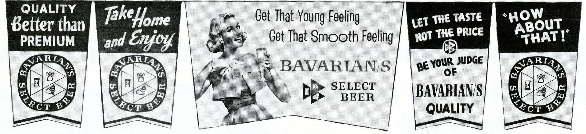 IBI Bavarian/s Select Beer Penants, 1959.