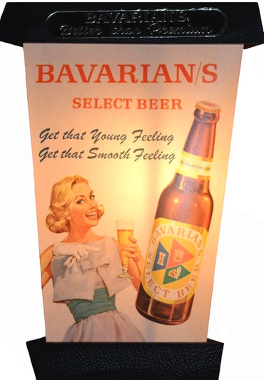 Bavarian/s Select Beer Lantern by IBI; Woman & Bottle Side.