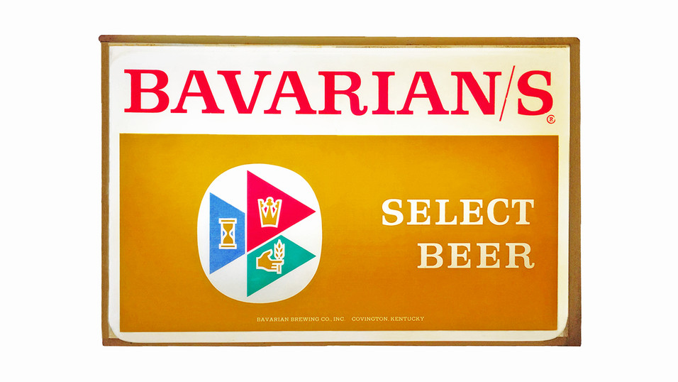 Bavarian/s Select Beer Backlit Sign, Bavarian Brewing Co., Covington, KY.