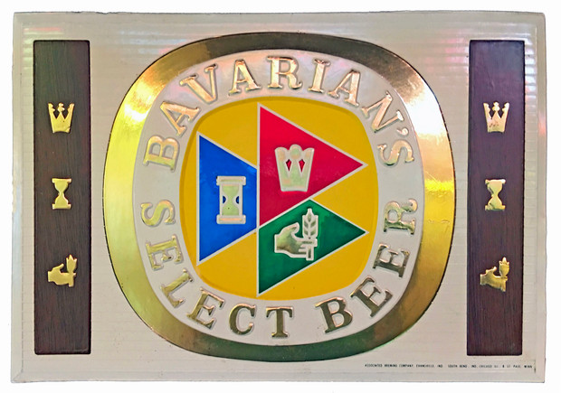 Bavarian's Select Beer Sign with three flags by IBI, Covington, KY.