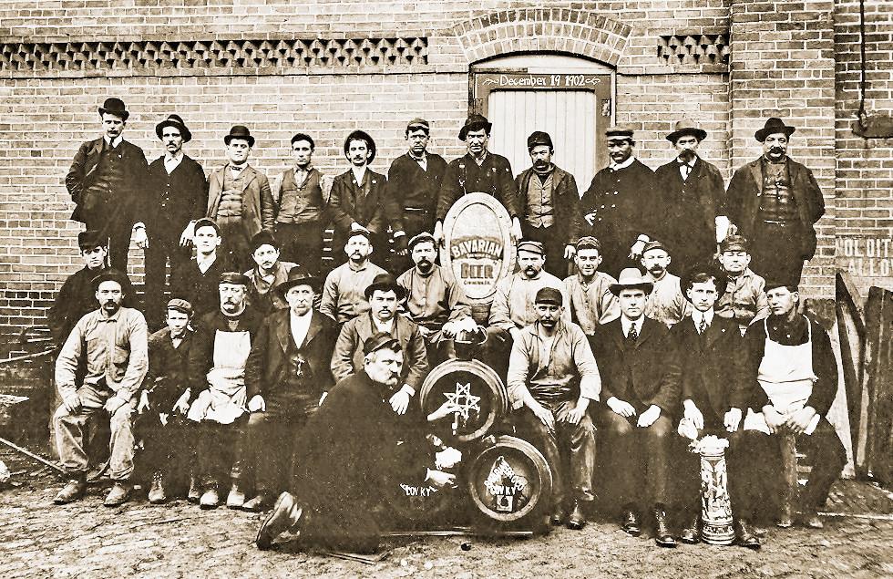 Bavarian Brewing Co. Workers, December 19, 1902. jpg