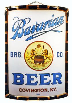 Bavarian Beer Vitrolight Sign, Bavarian Brewing Co., Covington, KY