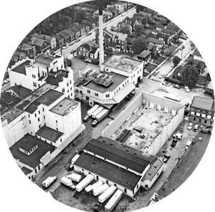 Aerial of the Bavarian Brewing Co. Warehouse Being Built, Covington, KY