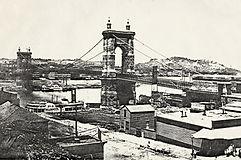 Roebling Suspension Bridge, Cincinnati OH - Covington KY