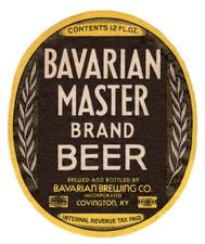 Bavarian Master Brand Label 12 oz 1938-4