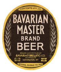 Bavarian Master Brand Label 12 oz c. 1938-4.