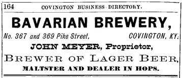 1882 Williams Cov Directory - Bavarian B