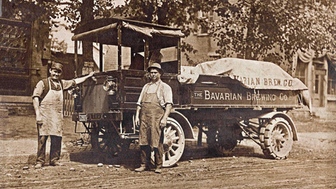 The Kleier Brothers with a Bavarian Brewing Co. Wilcox Trux, Covington, KY.