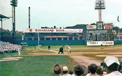 Bavarian/s Billboard at Crosley Field in Cincinnati, OH.
