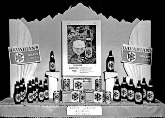 Recommended Display for Bavarian's Select Beer, Bavarian Brewing Co., Covington, KY