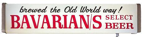 "Bavarian Select Outdoor Scene 'Old World"" Backlit Sign, Bavarian Brewing Co., Covington, KY."