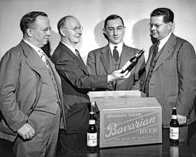 Bavarian's Old Style Beer Unveiled, Bavarian Brewing Co., Covington, KY