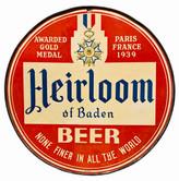 Heirloom of Baden Sign. Heidelberg Brewing Co., Covington, KY.
