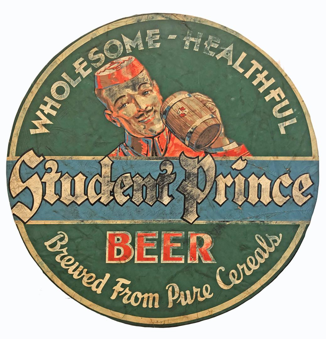 Student Prince Tire Cover. Heidelberg Brewing Co., Covington, KY.