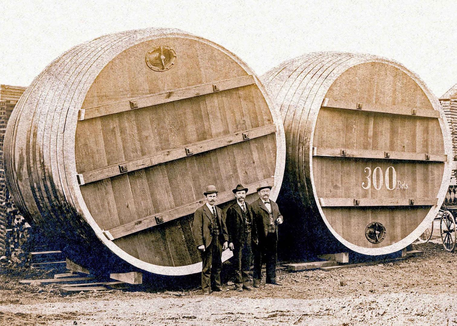 300 Barrel Wood Vats, J.M. Schott Cooperage & Sons, Cincinnati, OH.
