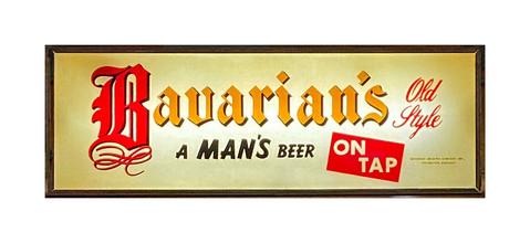 "Bavarian's Old Style Beer ""On Tap"" White Background Backlit Sign, Bavarian Brewing Co., Covington, KY."