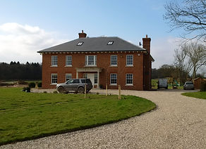 house, driveway, car, road, lawn