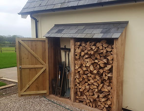 wood, shed, logs, fire, outdoors, tools, garden, gravel