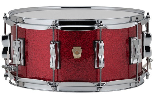 "Ludwig LS403 14x6.5"" Classic Maple Acero HW Cromato Red Sparkle"