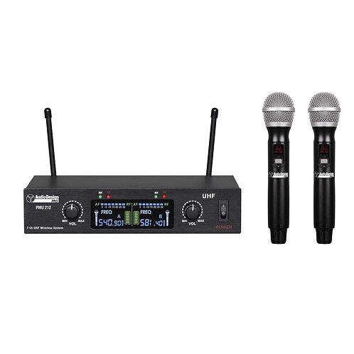 Audio Design PMU 212 Coppia Microfoni Wireless