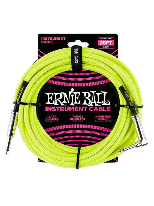 Ernieball Jack Jack 7.5mt Telato Neon Giallo P06057