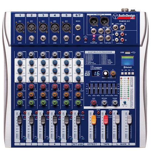 Audio Design PAMX2.511 Mixer 5 Canali | USB con Bluetooth