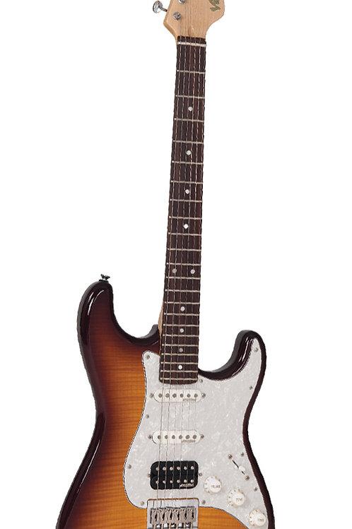 Vintage V6HHFTB Tiger Eye Sunburst Stratocaster