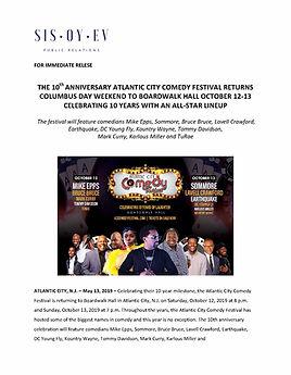 10th Annual Atlantic City Comedy Festiva