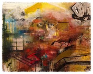 Enamel & Acrylic on Canvas