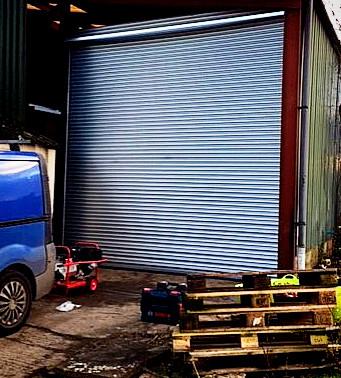 Farm Safety - Industrial Door install allows extra safety for local farm
