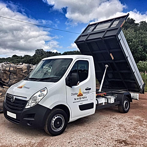 Our Delivery Van, we aim to get out logs out to you as soon as possible