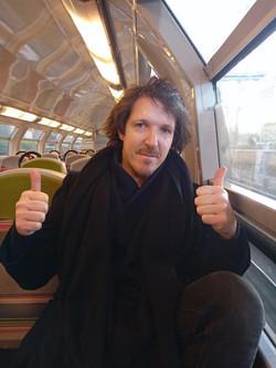 Dans le train en direction de Versailles :)