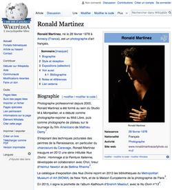WIKIPEDIA RONALD MARTINEZ