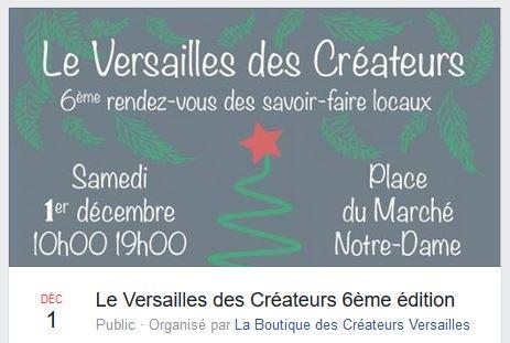 Marché de créateurs à Versailles