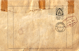 Antique Envelope Back