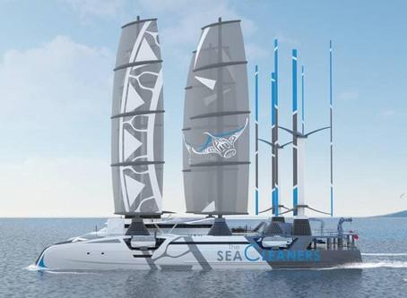 Manta, le bateau dévoreur de plastiques