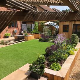 'A quart in a pint pot' garden