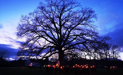Wassailing 2020 - torch procession