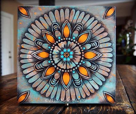 Turqoise Mandala Keepsake Box