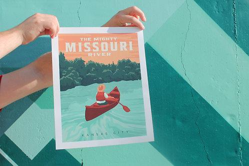 Missouri River Poster