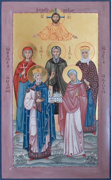 Семейная икона, 2013 г. (икона написана в соавсторстве с другими иконописцами)