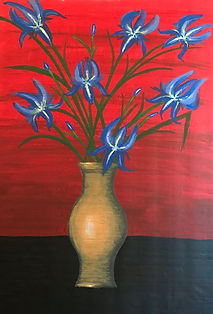 Painting by Dawna Flowers, Politics in Bloom