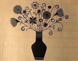 Painting by Dawna Flowers, Black Vase
