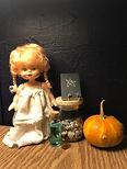 Creepy Halloween doll, mini book