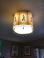Light Fixture Shade, Leaved Light Filters, made from leaves and masking tape, by Dawna Flowers. Masking Tape Crafts