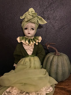 Green Woman, Halloween Doll