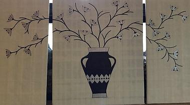 Painting by Dawna Flowers, Charlie Brown Vase